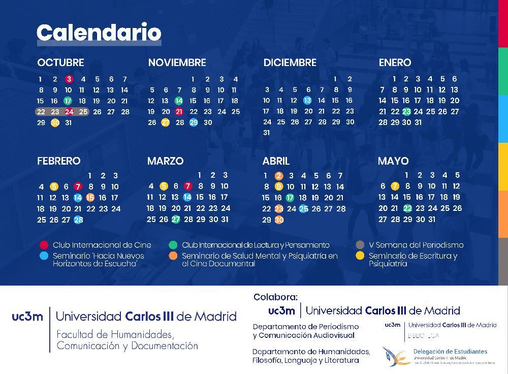 Calendario Uc3m.Seminarios Fhcd Uc3m