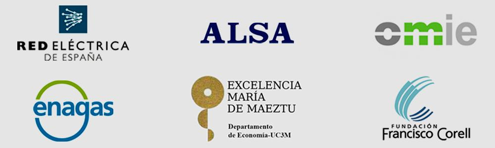 Logotipos de Colaboradores del Master in Industrial economics and markets