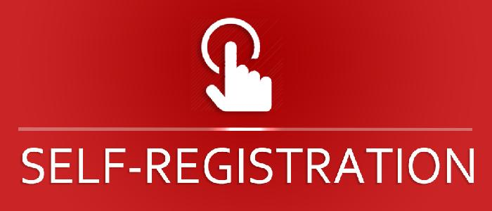 Start Self-registration online