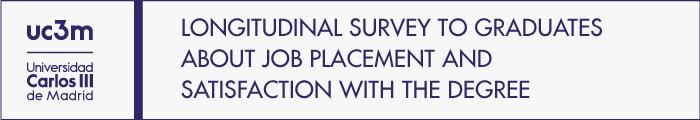 Access to the document Longitudinal survey to graduates about job placement and satisfaction with the degree