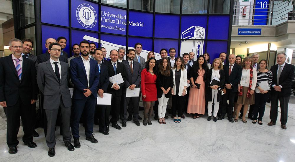 Closing ceremony of the Master in Industrial Economics and Markets. June 1, 2016.