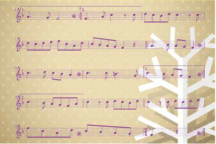 Dibujo de partitura