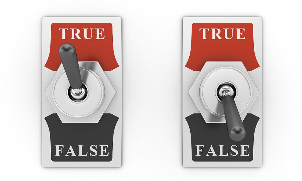 Interructores de True o False
